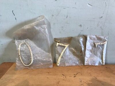 Vintage Brass House Numbers #7, #7, #0 (Set Of 3)