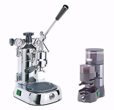 La Pavoni PL Professional Lever Espresso Machine Coffee Maker & JDL Grinder Set