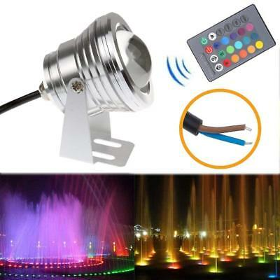 LED Colors Floodlight 10W RGB Outdoor Pool Light Waterproof + Remote Control