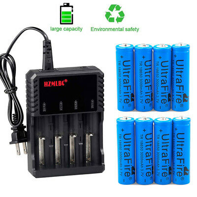 Lot Ultrafire 3.7V 18650 Battery Li-ion 3000mAh Rechargeable Cell for LED Torch