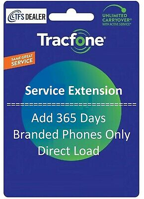 TracFone Service Extension 1 Year/365 Days for Basic Phone. BYOP NOT Supported