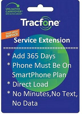 TracFone Service Extension 1 Year / 365 Days for All Phones / Makers
