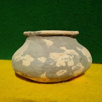 "Authentic Indian Artifacts 4""d Pottery Vessel Texas  Arrowheads Native American"