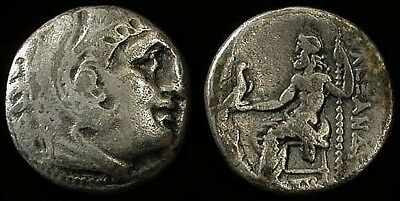 Authentic Alexander The Great Silver Drachm Circa 323 Bc
