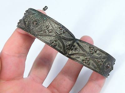 Amazing Post Byzantine / Medieval Bronze Bracelet - Excellent condition!