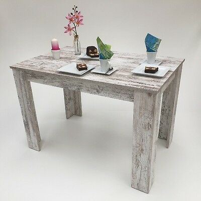 Esstisch,110x70cm Canyon White Pine shabby Chic  Made in Germany