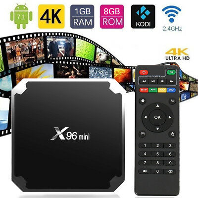 1x X96mini Smart Android 7.1 TV Box S905W Quad Core H.265 1GB / 8GB WiFi Media