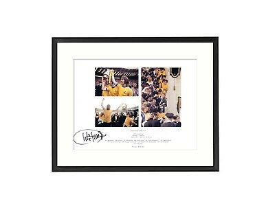 Charlie George  Arsenal  'Unique' Signed & Framed Print Montage
