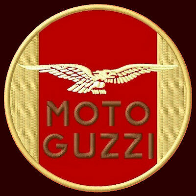 """Moto Guzzi Embroidered Patch ~4-1/4"""" Motorcycle Centauro California Le Mans V11"""