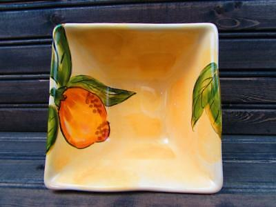 Lemon Orchard by Pier 1 Soup Cereal Bowl Lemons And Leaves On Cream b186