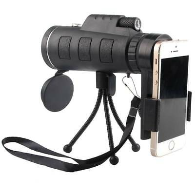 40X60 Optical HD Lens Monocular Scope Telescope +Tripod+ Clip For Iphone Samsung