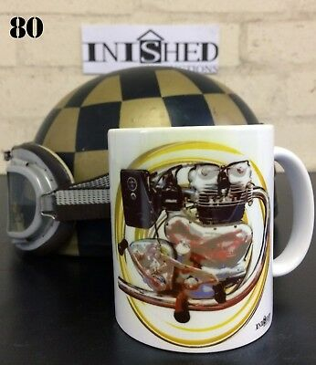 Royal Enfield Twin 1951 Meteor Motorcycle Engine Mug Inished Productions No80