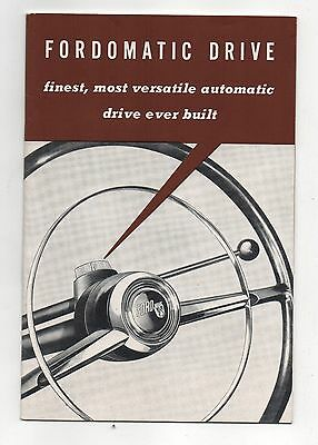 Vintage 1952 Fordomatic drive information booklet