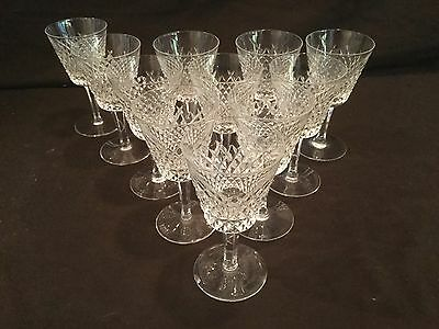 SET OF 10 WATERFORD CRYSTAL ALANA CLARET WINE GLASSES (11 Pictured)