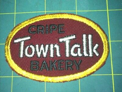 "Vintage Cripe ""town Talk"" Bakery Advertising Patch."