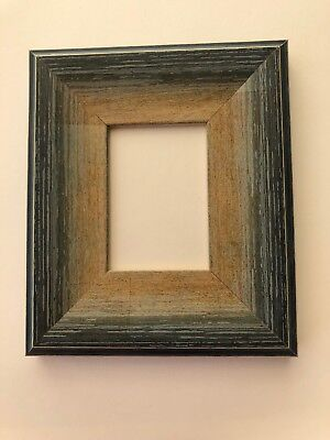 NEW Quality wooden ACEO Art/sports card 3.5 x 2.5 vintage blue picture frame
