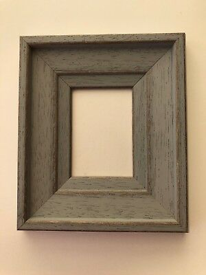 NEW Quality wooden ACEO Art/sports card 3.5 x 2.5 gray picture frame