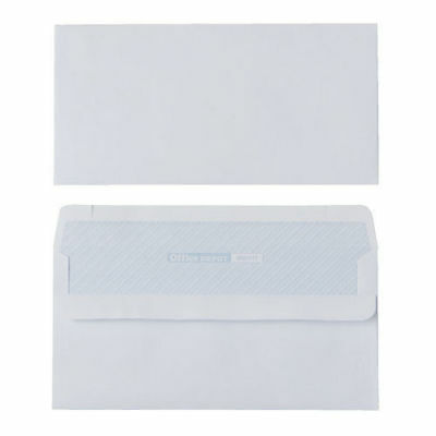 Office Depot White Envelopes DL 80gsm Self Seal Plain -  NO window Box of 250