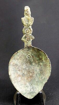 "Ancient Roman Bronze ""Evil Eye"" Medical Spoon  c.100-400 AD. Found in England"
