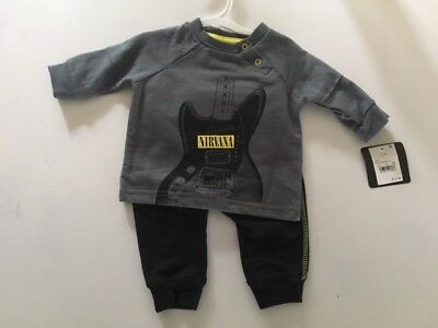 Nirvana Sweatshirt & Pants Baby Infant Outfit Set NWT