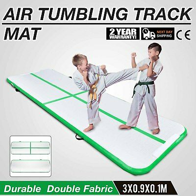 10Ft Air Track Floor Tumbling Inflatable Gym Mat Pad Yoga AirTrack Water Sport