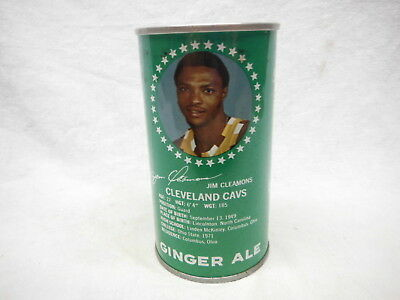 "Cotton Club Ginger Ale ""jim Cleamons Cleveland Cavs"" Soda Can-Cleveland,ohio #28"