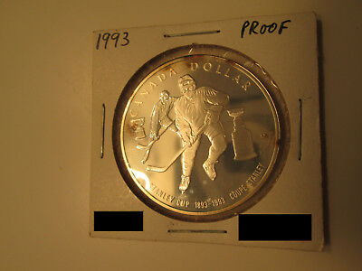 1993 Canada Dollar SILVER PROOF Heavy Cameo - 100th Anniversary Stanley Cup