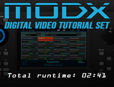 Yamaha MODX Instructional Video Tutorials on Blu-ray and Download