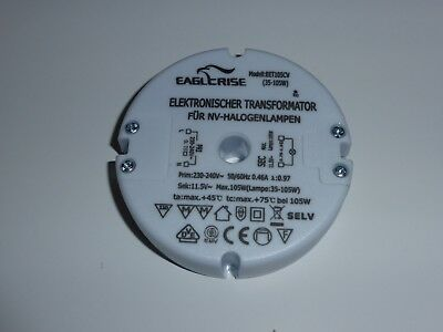 Rapid Post: Eaglerise SET105CV 105W Halogen Transformer New: 18 Month Warranty!