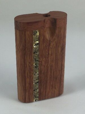 "3"" Dugout One Hitter Rose Wood Inlay Twist Top With Aluminum Cigarette"