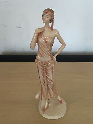 1920's / 1930's  Art Deco  Style Lady/ Flapper Girl 12'' Figure / Figurine