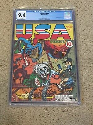 Flashback 3 CGC 9.4 White Pages (reprints USA Comics #1-1942)- Highest on Census