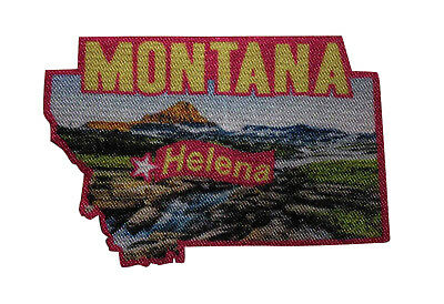Travel Souvenir State Capitol 054-Q Augusta Maine Printed Iron On Patch