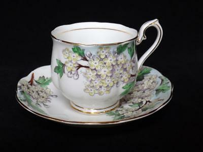 Vintage Royal Albert Hawthorn Bone China Tea Cup & Saucer Flower of Month Series
