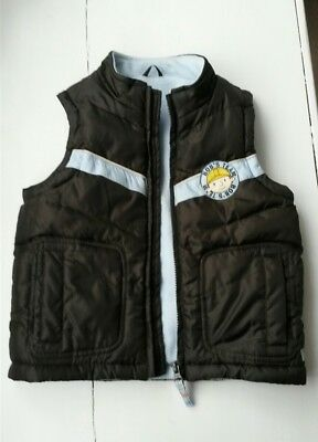 M&S Bob The Builder brown padded gilet body warmer age 2 to 3 years boys
