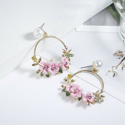 Jewelry Stud Personality Fashion Ear Women Temperament Earrings Charm Flower