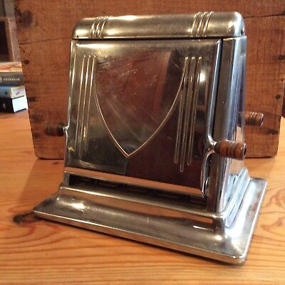 Antique Super Star Toaster flapper, electric with cord, two slice, Art Deco