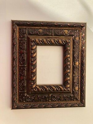 NEW Luxury plastic ACEO Art/Sports card 3.5 x 2.5 brown picture frame