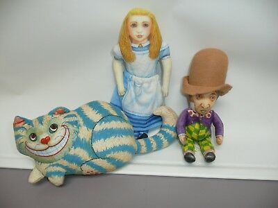The Toy Works Cloth Alice in Wonderland, Chesire Cat & Madhatter