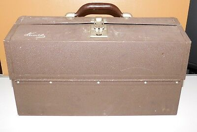 Vintage Kennedy 1127-AL Machinist's Metal Tool Tackle Box Chest