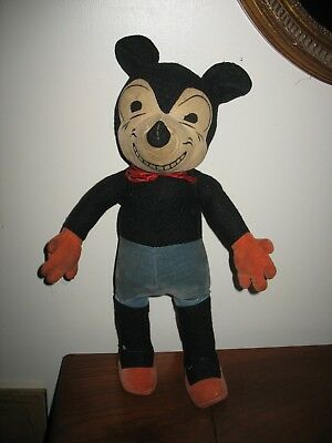 Giant Sized Mickey Mouse 1930 Deans England Walt Disney Vintage Early Toy Doll