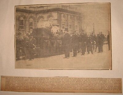 1913 Clipping Funeral Ny Mayor William Gaynor Photo And Description - Awesome
