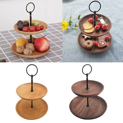 Blesiya 2 Tier Cupcake Stand Small Cake Food Platter Round Display Party