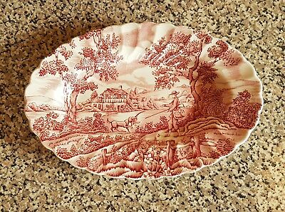 Myott The Hunter Small Serving Plate Pink
