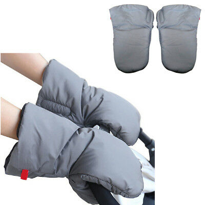 1 Pair Baby Pram Waterproof Stroller Gloves Winter Pushchair Hand Warmer Muff