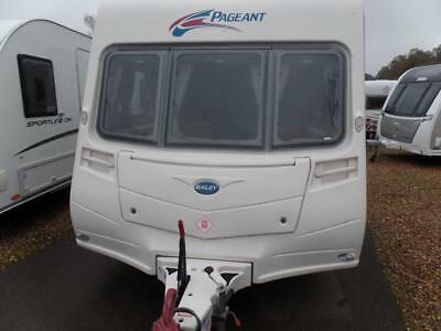 2,3,4 berth 2008 fixed bed Bailey Pageant Burgundy S6 family caravan