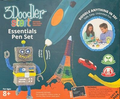 3Doodler Start Essentials 3D Printing Drawing Pen 48 Pc Eco Plastic New In Box