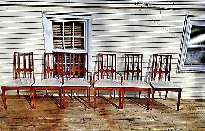 Set Of Six Mid-Century Modern Broyhill Brasilia Dining Room Chairs