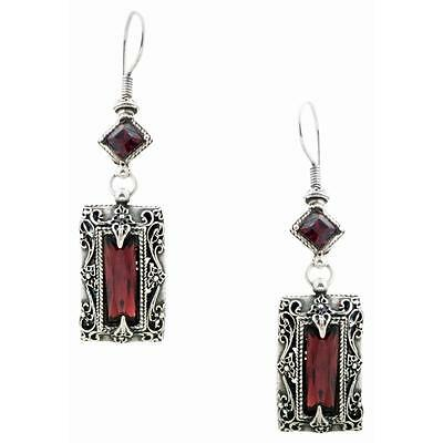 S136 ~ Sterling Silver & Swarovski Medieval Drop Earrings