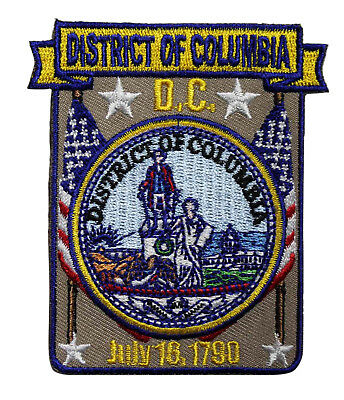 Washington DC Embroidered Iron On Patch - Travel Souvenir Road Trip 215-V
